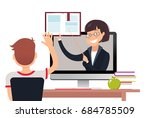 vector illustration of teacher... | Shutterstock .eps vector #684785509