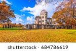 hiroshima  japan at the atomic... | Shutterstock . vector #684786619