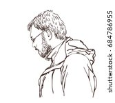portrait of handsome man... | Shutterstock .eps vector #684786955