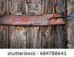 locked vintage door texture... | Shutterstock . vector #684788641