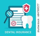 dental insurance concept banner....   Shutterstock .eps vector #684789577