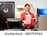 portrait of a male worker in... | Shutterstock . vector #684792964
