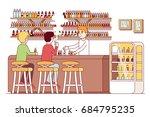 vape store bar barman serving...