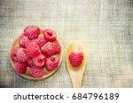 fresh rasberry | Shutterstock . vector #684796189