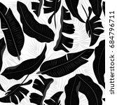 tropical leaves seamless... | Shutterstock .eps vector #684796711