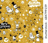 merry christmas holiday... | Shutterstock .eps vector #684799159