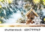 winter christmas background | Shutterstock . vector #684799969