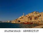 jaffa   22.05.2017  sea view on ... | Shutterstock . vector #684802519