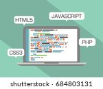 web programming concept. design ... | Shutterstock .eps vector #684803131
