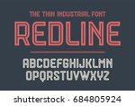 alphabet and font red line.... | Shutterstock .eps vector #684805924