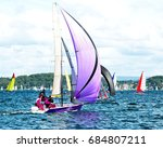 children sailing in high ... | Shutterstock . vector #684807211