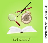 back to school. image with book ... | Shutterstock .eps vector #684808231