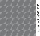 seamless gray op art square... | Shutterstock .eps vector #684811555