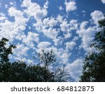beautiful white clouds and... | Shutterstock . vector #684812875