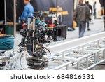 big professional video camera... | Shutterstock . vector #684816331