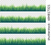 grass isolated on transparent... | Shutterstock .eps vector #684817321