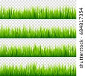 grass isolated on transparent... | Shutterstock .eps vector #684817354