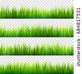 grass isolated on transparent... | Shutterstock .eps vector #684817531
