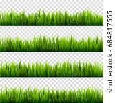 grass isolated on transparent... | Shutterstock .eps vector #684817555