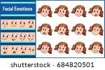set isolated vector... | Shutterstock .eps vector #684820501