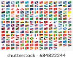 waving illustrated flags of the ... | Shutterstock . vector #684822244