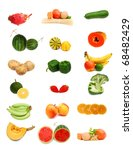 healthy food collection on white | Shutterstock . vector #68482429