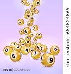 Vector Gold Bingo Balls Fall...