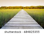 Long Wooden Walkway With...