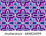 embroidery pattern. tribal... | Shutterstock .eps vector #684826099