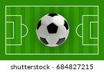 soccer or football 3d ball on... | Shutterstock .eps vector #684827215