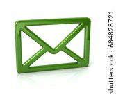 green mail icon 3d illustration ... | Shutterstock . vector #684828721