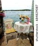 vintage summer view in rovinj   Shutterstock . vector #684829087