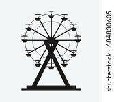 ferris wheel icon vector | Shutterstock .eps vector #684830605