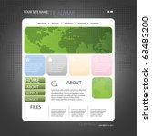 abstract business web site... | Shutterstock .eps vector #68483200