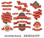 shopping banners and ribbons... | Shutterstock . vector #684836359