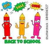 back to school background with... | Shutterstock .eps vector #684836527