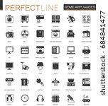 black classic home appliances... | Shutterstock .eps vector #684841477