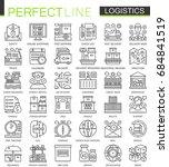 logistics outline mini concept... | Shutterstock .eps vector #684841519