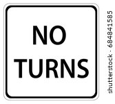 no u turn sign | Shutterstock .eps vector #684841585
