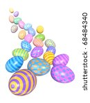 a group of colorful easter eggs ... | Shutterstock . vector #68484340
