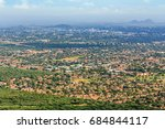 aerial view of suburb of... | Shutterstock . vector #684844117