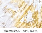 modern white and gold acrylic... | Shutterstock . vector #684846121