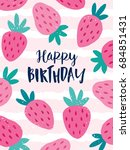 cute greeting card with... | Shutterstock .eps vector #684851431