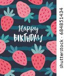 cute greeting card with... | Shutterstock .eps vector #684851434