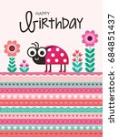 cute greeting card with... | Shutterstock .eps vector #684851437