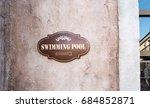 pool sign | Shutterstock . vector #684852871
