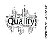 quality tag cloud  vector | Shutterstock .eps vector #684855139