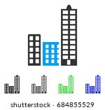 city flat vector pictograph.... | Shutterstock .eps vector #684855529