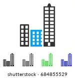 city flat vector pictograph.... | Shutterstock .eps vector #684855529