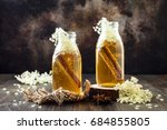 homemade fermented cinnamon and ... | Shutterstock . vector #684855805